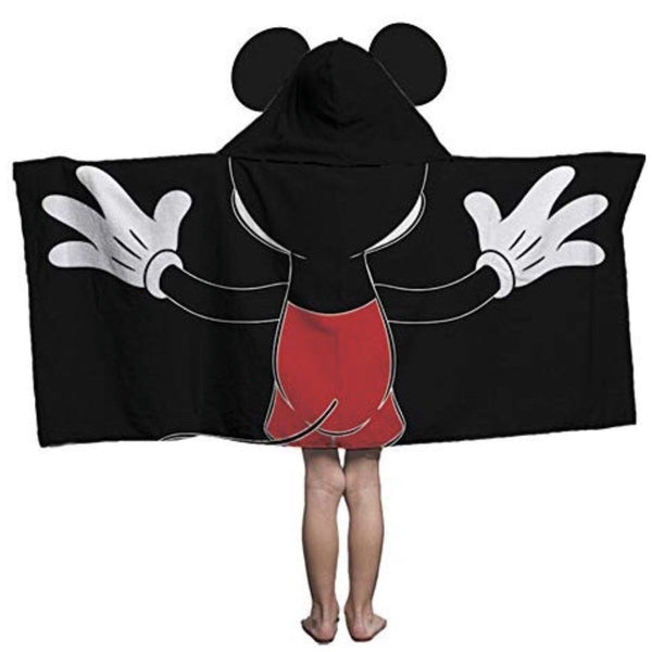Mickey Mouse Hooded Towel Thick Bright & Generously Sized