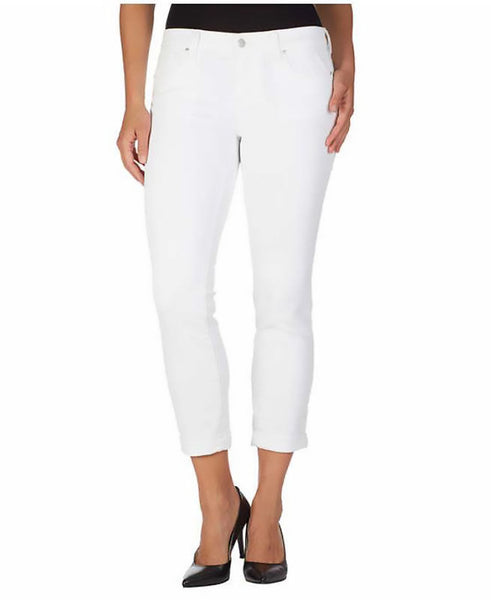 Jessica Simpson Women's Rolled Crop Skinny Jean Soft Sculpt white