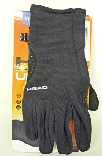 Head Sensatec Ultrafit Touchscreen Running Gloves Black Thermal Grid - Size L