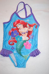 Ariel the mermaid 1 piece swimsuit size 5