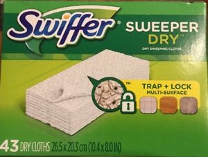 Swiffer Sweeper Dry Sweeping Cloth Refills, 43-count