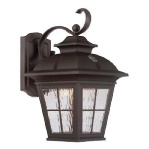 Altair LED Outdoor Coach Light Lantern - Brushed Patina - Day Night Sensor