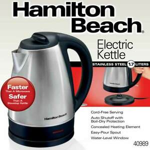 Hamilton Beach Stainless Steel Electric Cordless Kettle