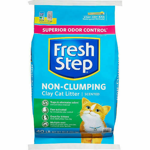 Fresh Step Superior Odor Control Non Clumping Clay Cat Litter, Scented, 18 Kg