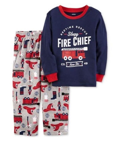 Carter's 2 piece sleepy fire chief size 2T