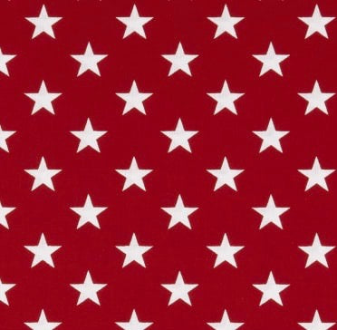 "Patriotic Stars Large - Red and White 108"" Wide Fabric"