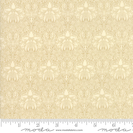 "Morris Garden Porcelain - Natural - Moda Fabric 108"" Wide Back"
