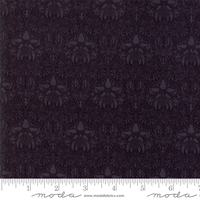 "Morris Garden Ebony - Black - Moda Fabric 108"" Wide Back"