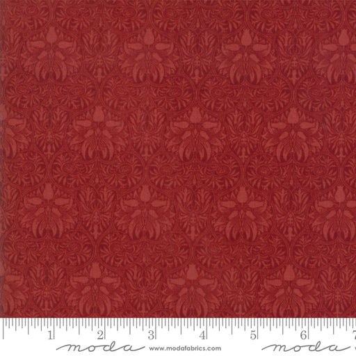 "Morris Garden Crimson - Red - Moda Fabric 108"" Wide Back 11155 15"