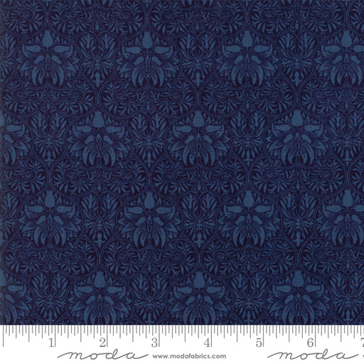 "Morris Garden Indigo - Dark Blue - Moda Fabric 108"" Wide Back"