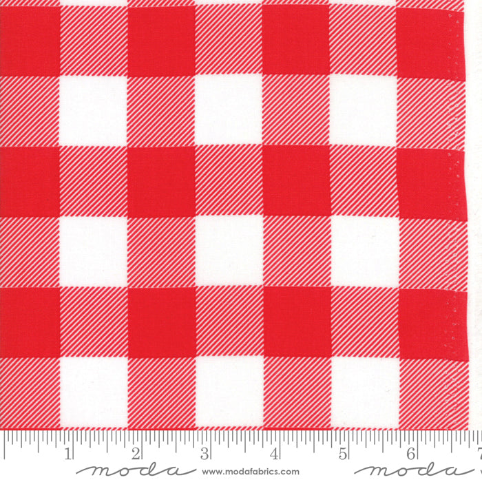 "Buffalo Check - Red 108"" Wide Back"