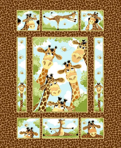 "Zoe the Giraffe Quilt Panel #20255-280 35"" Wide"
