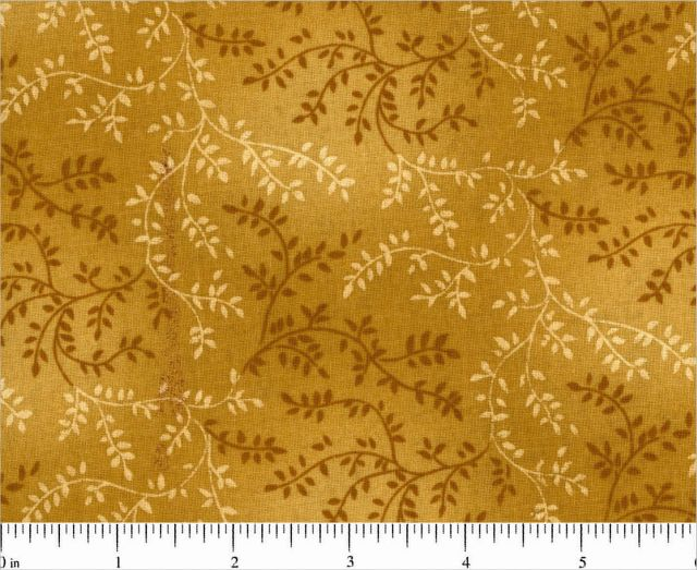 "Mottle Vines - Gold Brown 108"" Wide Back"