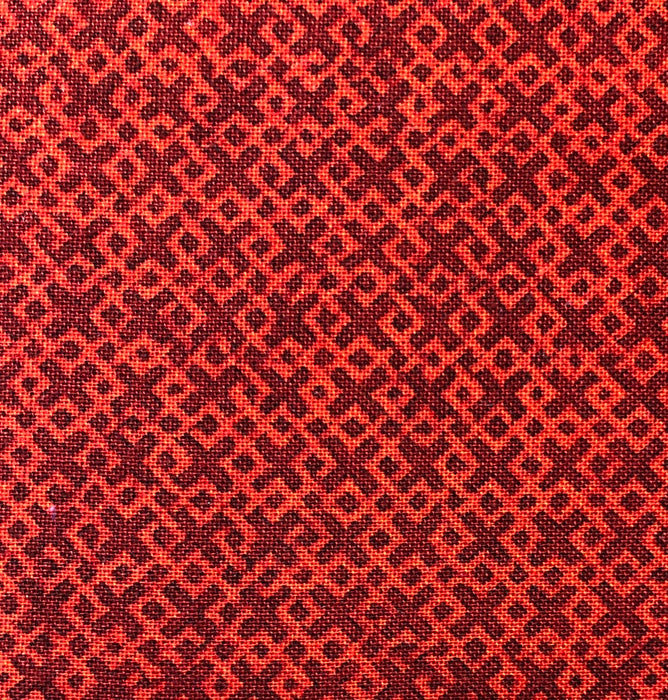 "Criss Cross Dark Red 108"" Wide Back"