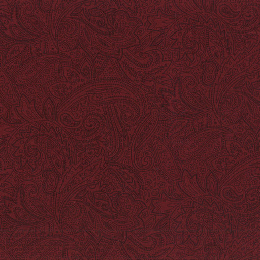 "Antique Paisley Burgundy 108"" Wide Back CD-49638-800"