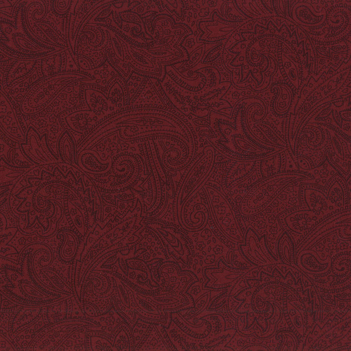 "Antique Paisley Burgundy 108"" Wide Back QB601-390"