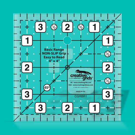 Creative Grids Basic Range 4in Square Quilt Ruler
