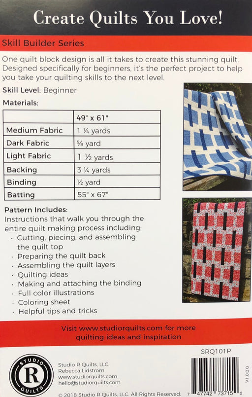 Stick & Stones Studio R Quilts Pattern