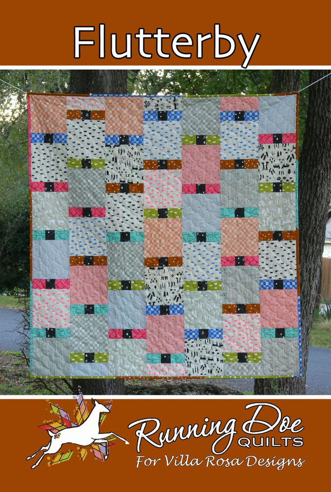 FLUTTERBY Running Doe Quilts for Villa Rosa Designs