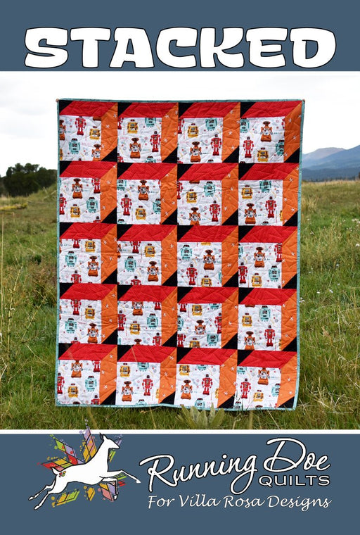STACKED Running Doe Quilts for Villa Rosa Designs