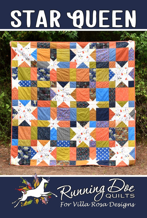 STAR QUEEN Running Doe Quilts for Villa Rosa Designs