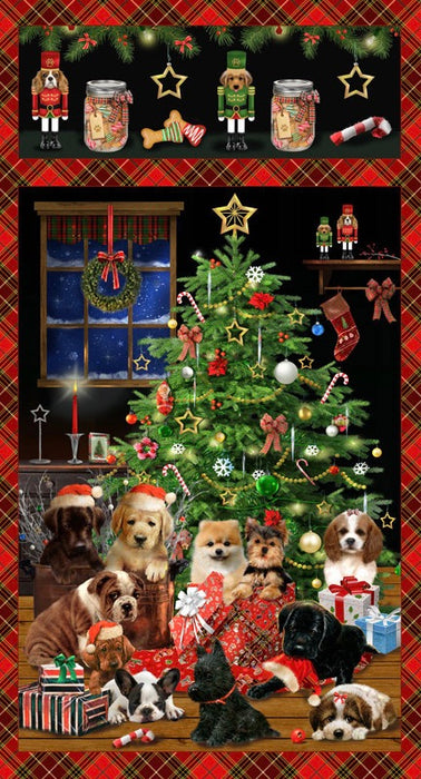 Fireside Pups - Pups and Christmas Tree  7190P 88