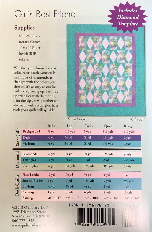 Girl's Best Friend Quilt Pattern