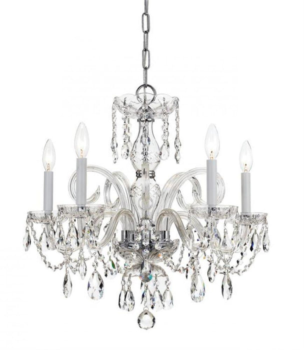 Crystorama Traditional Crystal 5 Light Crystal Chrome Chandelier | 1005-CH-CL-MWP