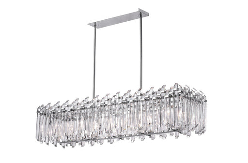 CWI Lighting 10 Light Chandelier with Chrome Finish | 1065P47-10-601-RC