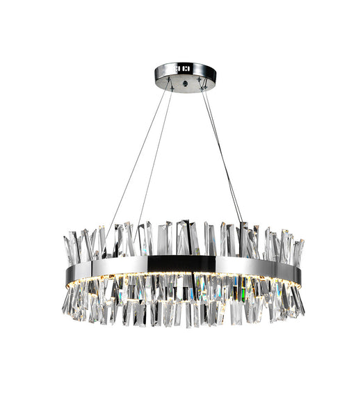 CWI Lighting LED Chandelier with Chrome Finish | 1086P32-601