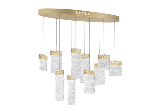 CWI Lighting LED Chandelier with Gold Leaf Finish | 1090P40-10-620-O