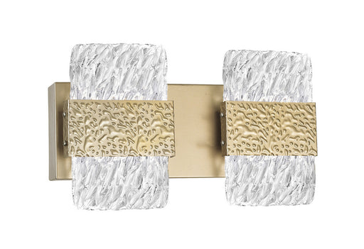 CWI Lighting LED Wall Sconce with Gold Leaf Finish | 1090W14-2-620