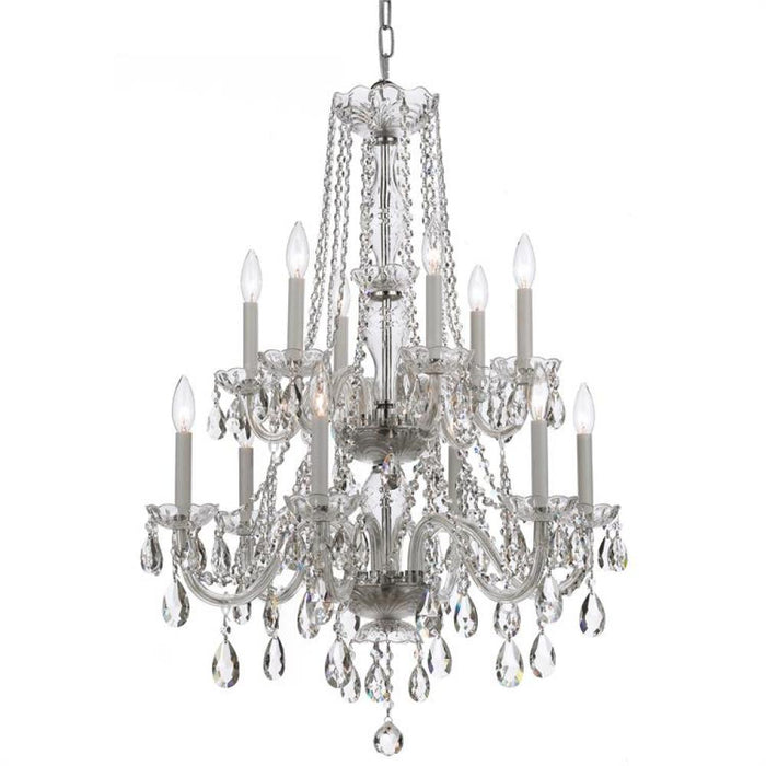 Crystorama Traditional Crystal 12 Light Clear Spectra Crystal Chrome Chandelier | 1137-CH-CL-SAQ