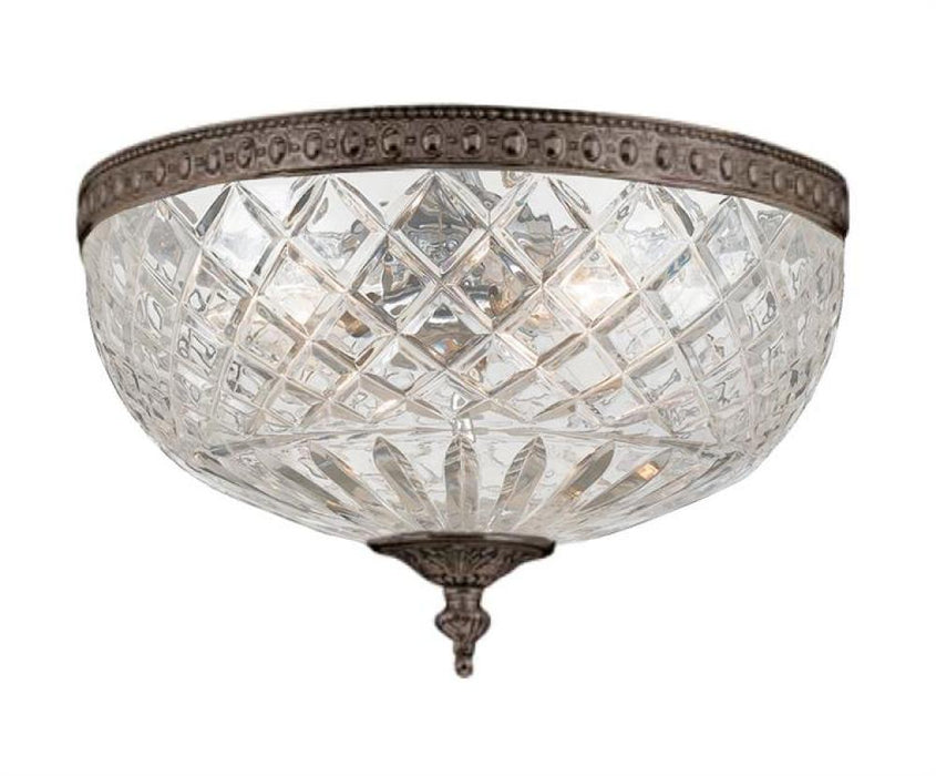 Crystorama Crystorama 3 Light Bronze Crystal Ceiling Mount | 117-12-EB