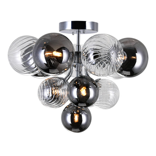 CWI Lighting 6 Light Flush Mount with Chrome Finish | 1205C16-6-601