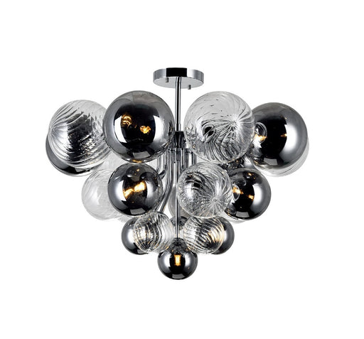CWI Lighting 10 Light Flush Mount with Chrome Finish | 1205C25-10-601