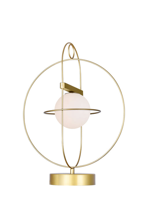 CWI Lighting 1 Light Lamp with Medallion Gold Finish | 1209T14-1-169