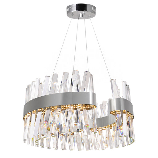 CWI Lighting LED Chandelier with Chrome Finish | 1220P24-601-C