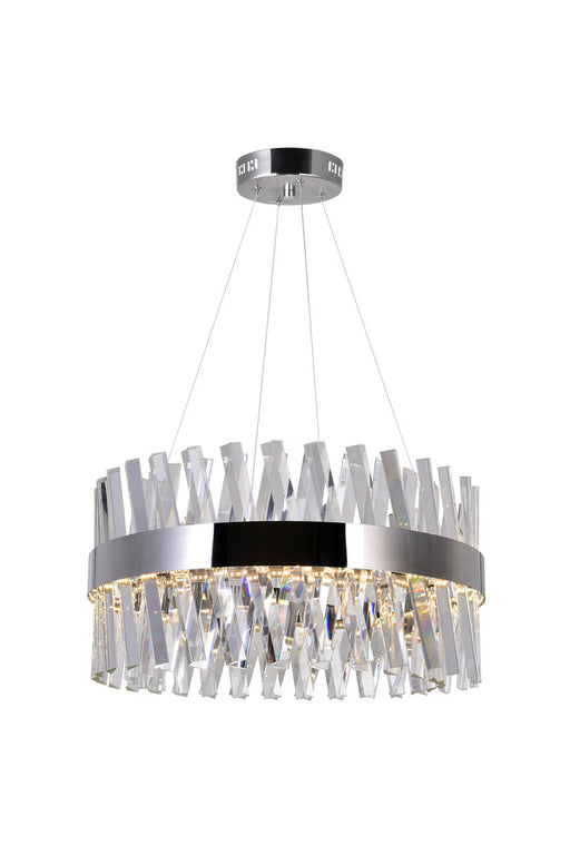 CWI Lighting LED Chandelier with Chrome Finish | 1220P24-601