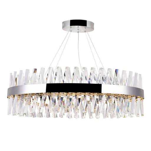 CWI Lighting LED Chandelier with Chrome Finish | 1220P40-601-O