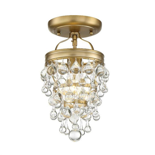 Crystorama Calypso 1 Light Crystal Teardrop Bronze Ceiling Mount | 131-VG_CEILING