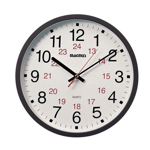 "Dainolite Magnus -12"" Office Clock 12/24 