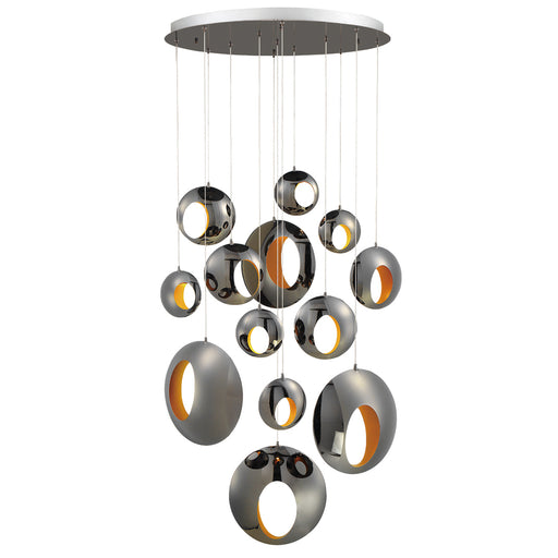Eurofase ARLINGTON,13 Lights LED CHAND,BK/CH | 35910-015