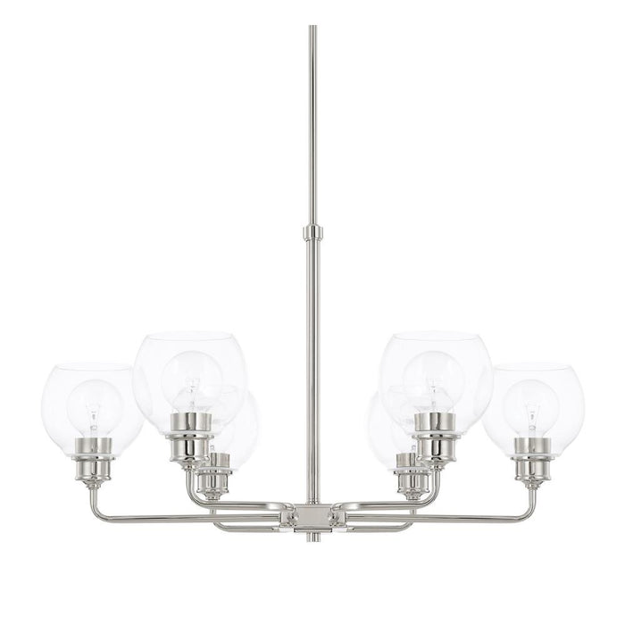 Capital 6 Light Chandelier | 421161PN-426
