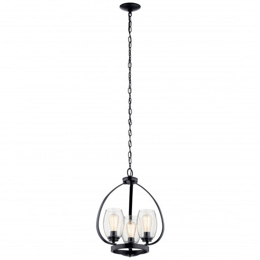Kichler Mini Chandelier 3 Lights | 44059BK