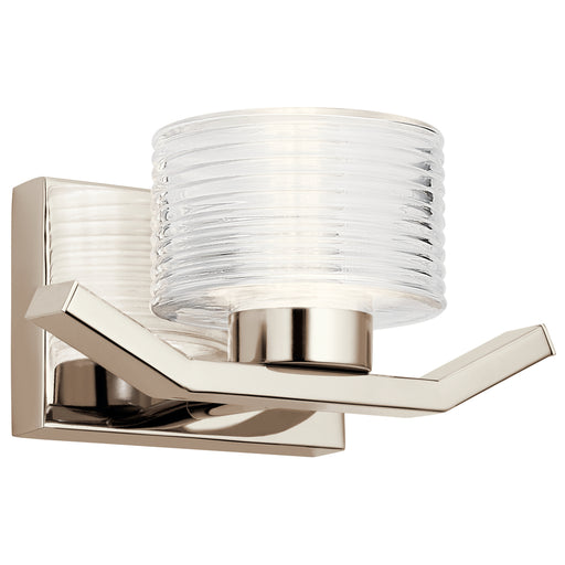 Kichler Wall Sconce 1 Light LED | 44349PNLED