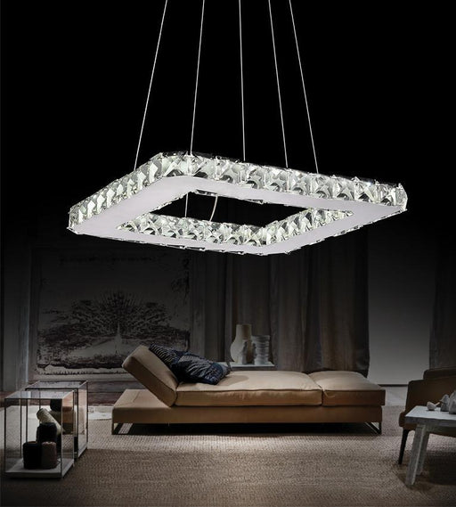 CWI Lighting LED Chandelier with Chrome finish | 5080P15ST-S