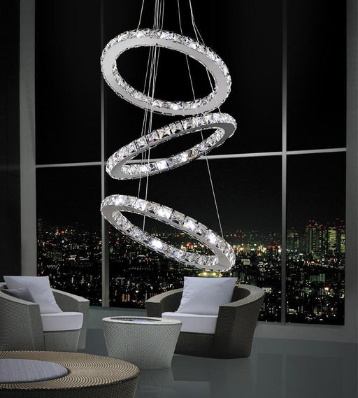 CWI Lighting LED Chandelier with Chrome finish | 5080P16ST-3R