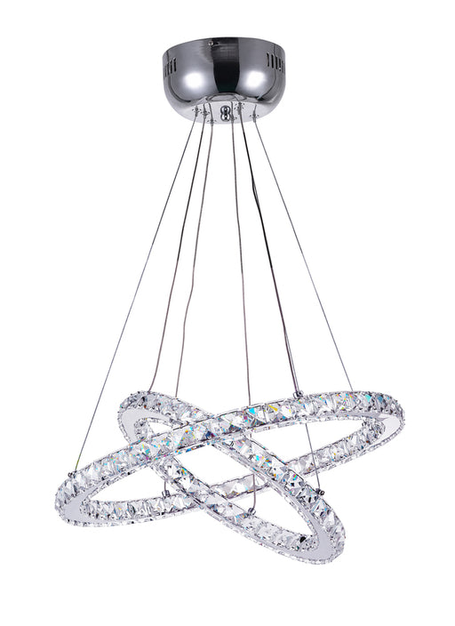 CWI Lighting LED Chandelier with Chrome finish | 5080P20ST-2R
