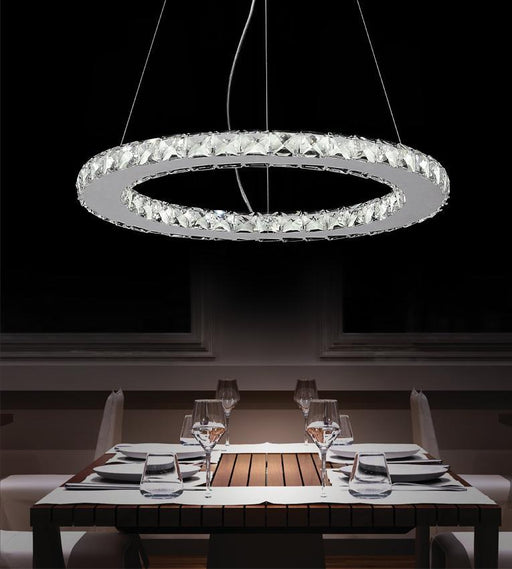CWI Lighting LED Chandelier with Chrome finish | 5080P20ST-R